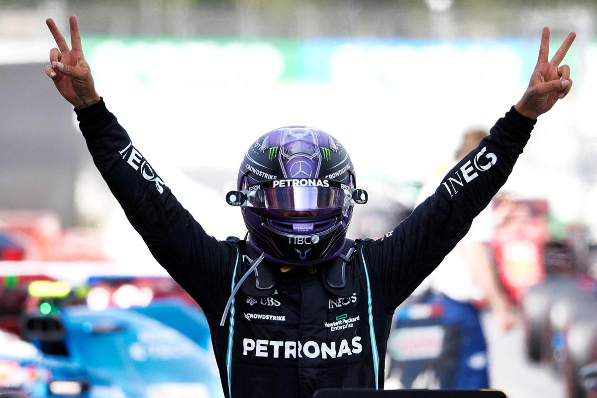 Hispaania GP võitis Hamilton