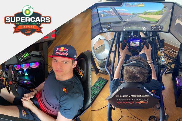 Max Verstappen oli BP Supercars All Stars Eseries teisel etapil kolmes võistlussõidus teine