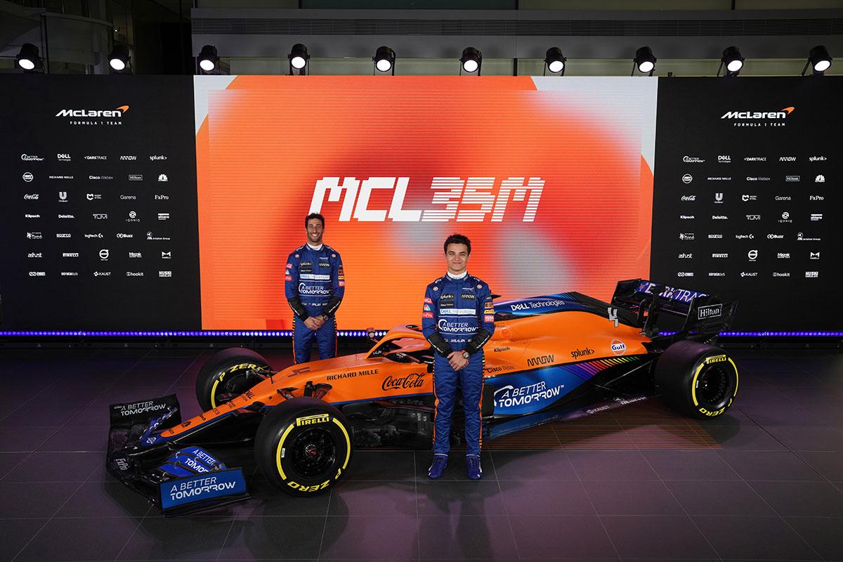 McLaren esitles esimesena oma 2021. hooaja võistlusmasinat