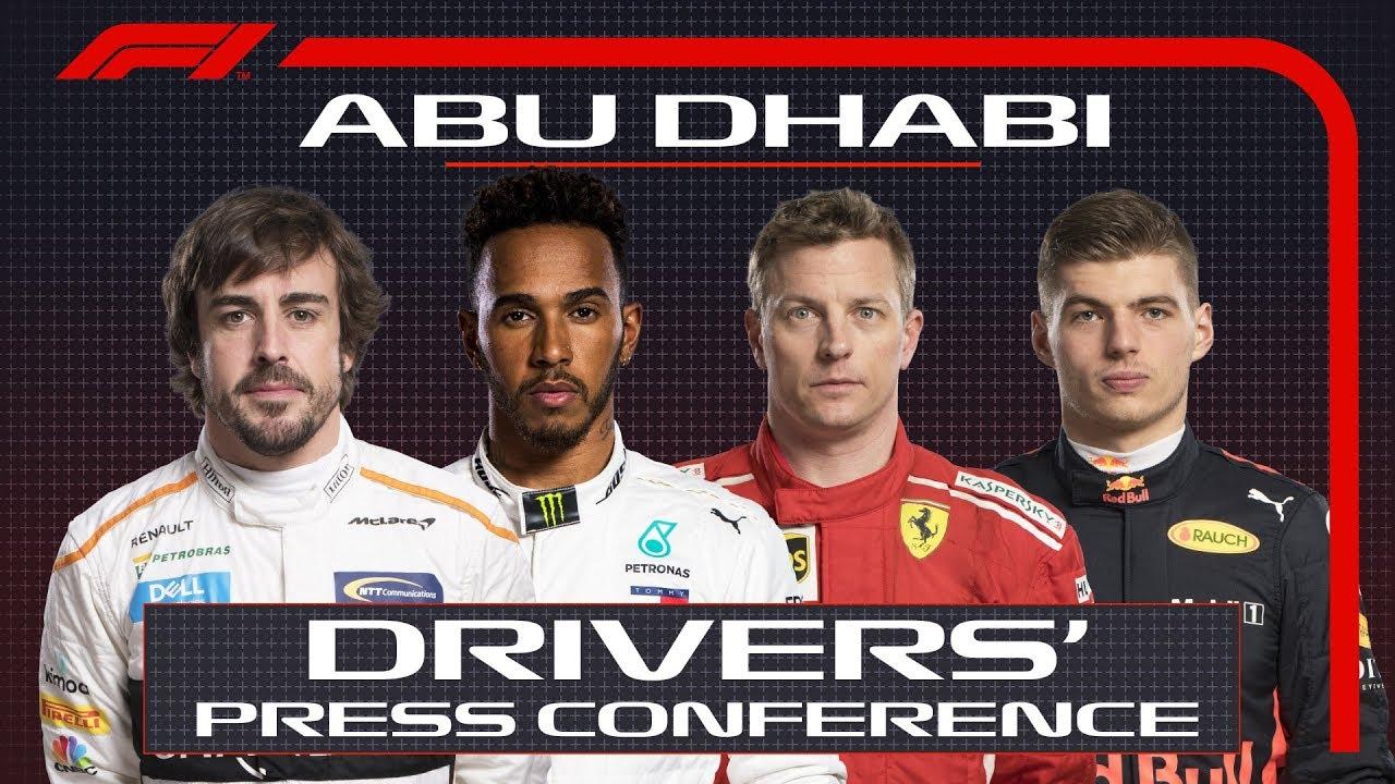 Araabia Ühendemiraatide GP 2018 - neljapäevane sõitjate pressikonverents, F1