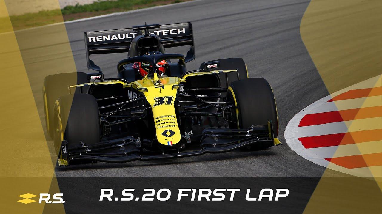 Renault R.S.20 esimesed kilomeetrid ringrajal