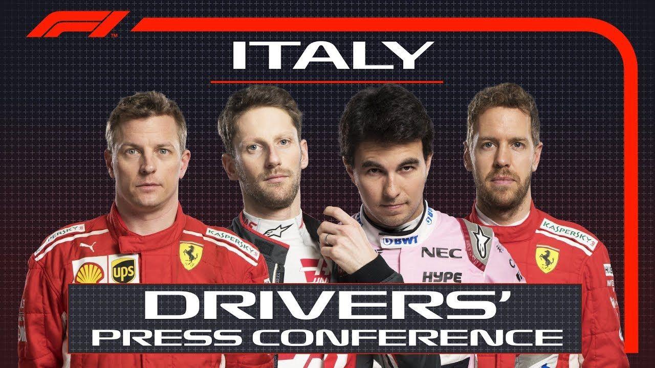 Itaalia GP 2018 - neljapäevane sõitjate pressikonverents, F1