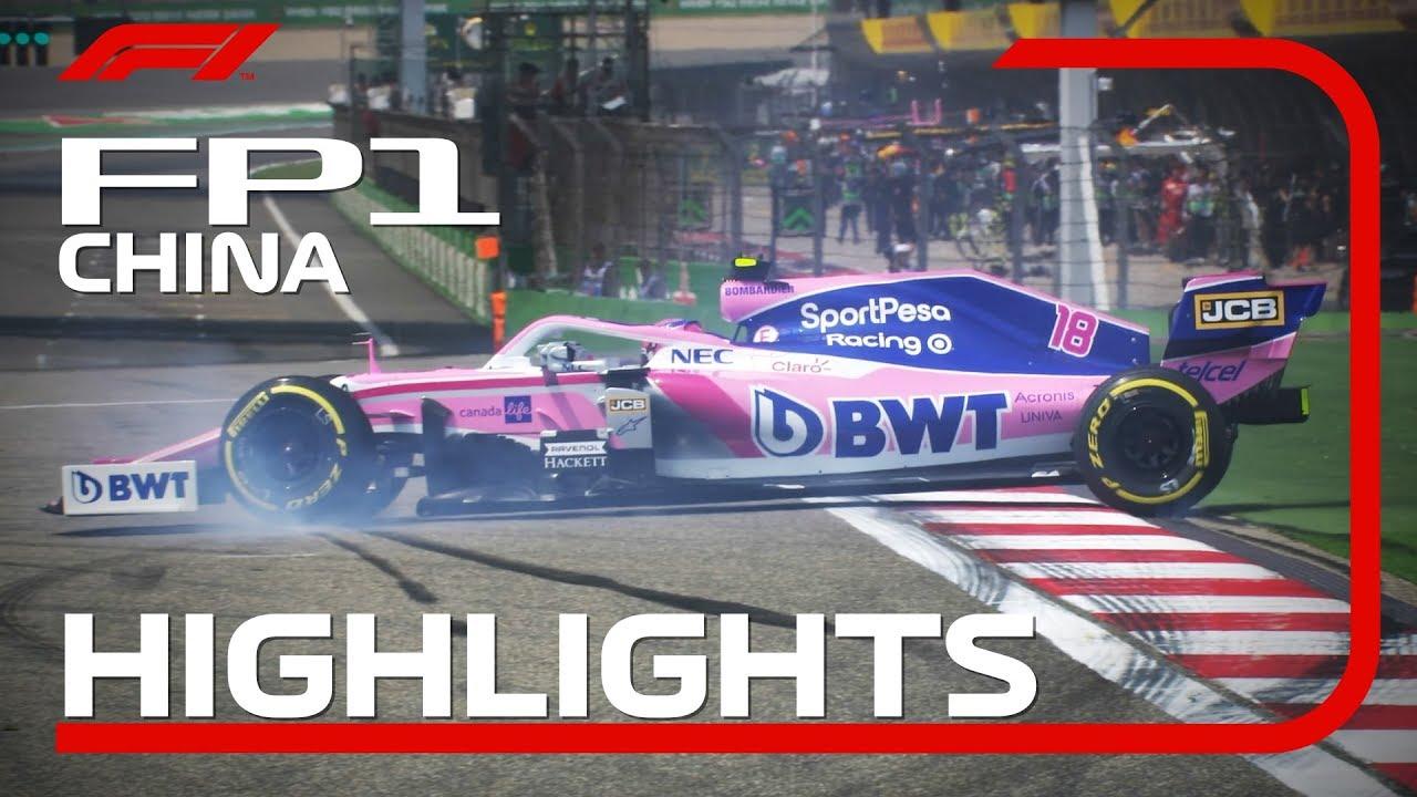 Hiina GP 2019 - esimene vabatreening, ülevaade, Formula1