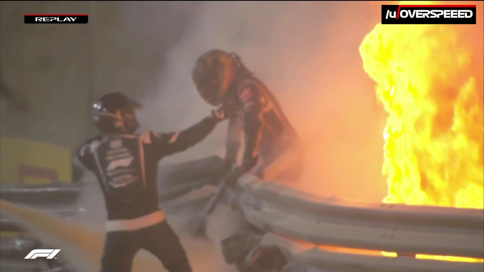 Kuidas Grosejan aidati põlevast kokpitist välja