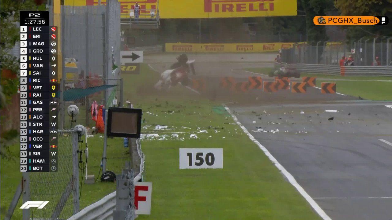Itaalia GP 2018 - teine vabatreening, Ericssoni avarii
