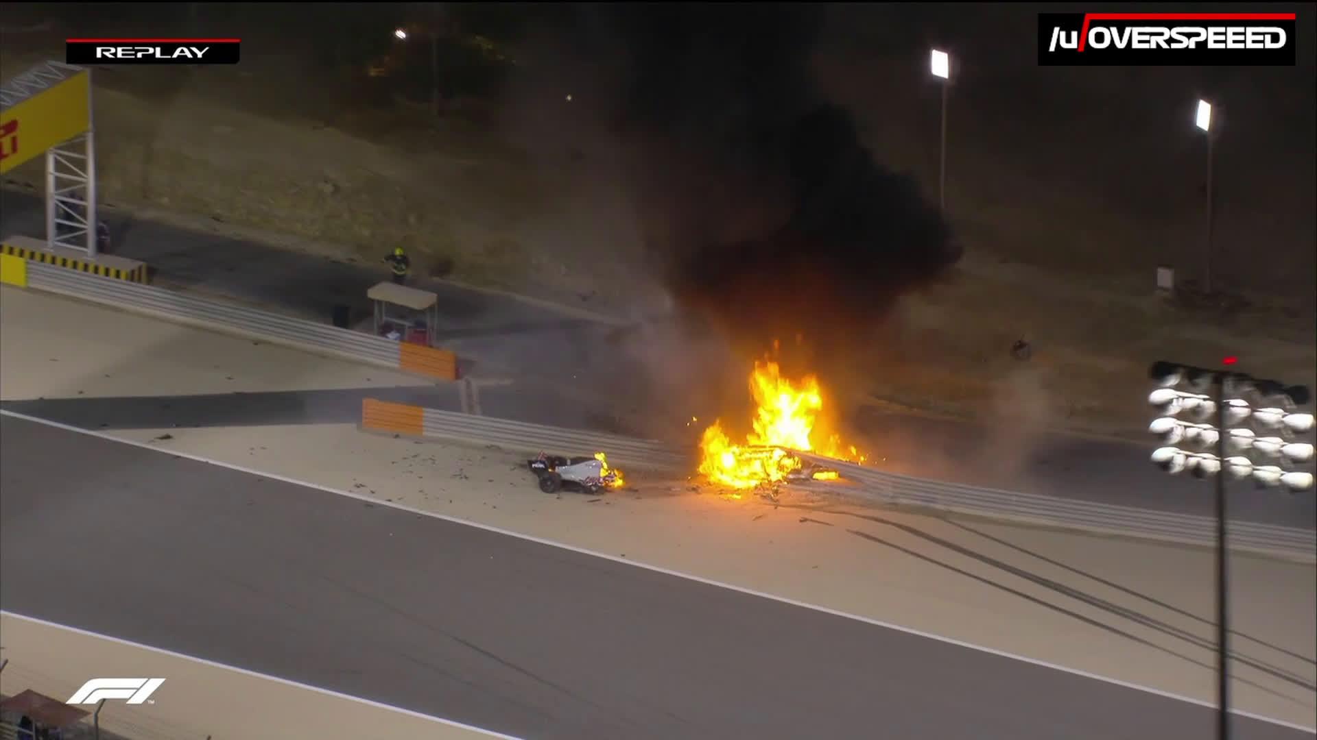 Ühe esimestena jõudis Grosjeanini ametlik F1 meditsiiniauto