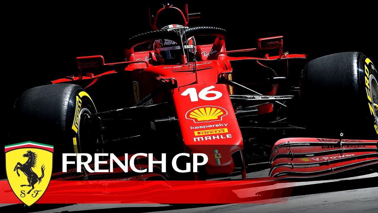 Ferrari vormel-1 meeskonna eelvaade Prantsusmaa GP 2021