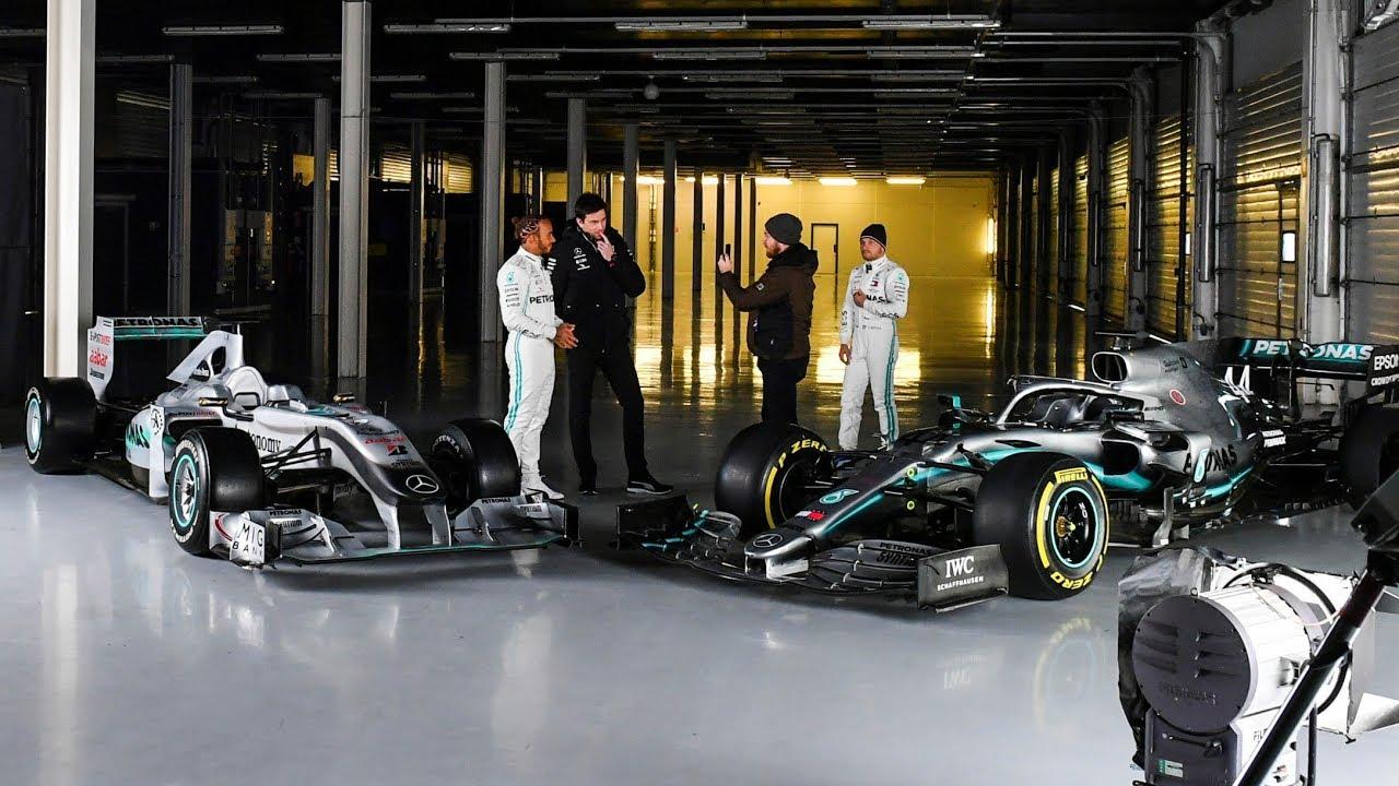 Mercedes 20120. aasta masina W11 esimesed ringid rajal