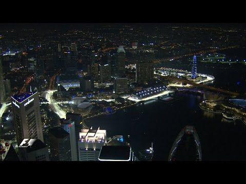 Singapuri GP 2016 - eelvaade, Formula 1, helikopteriga Singapuri kohal