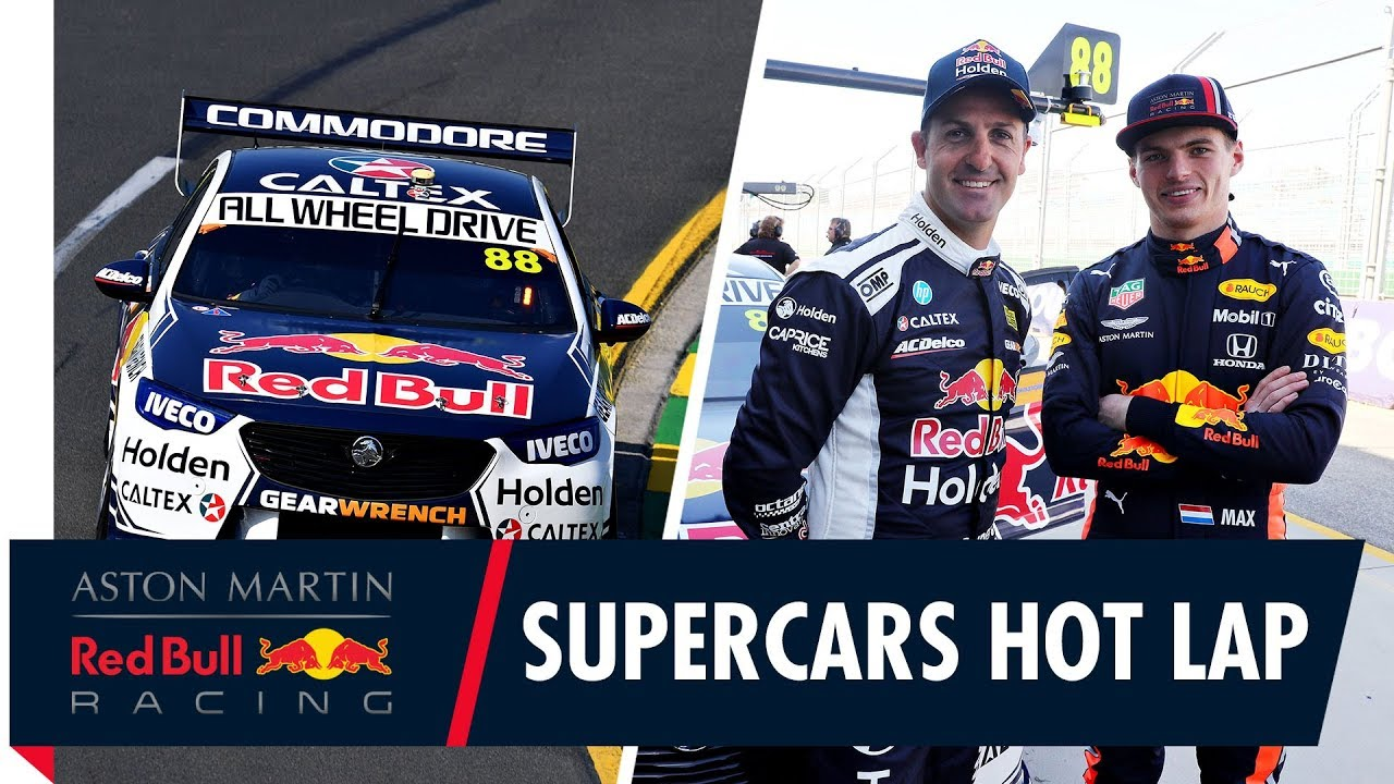 Austraalia GP 2019 - Verstappen V8 Supercars kõrvalistmel läbimas ringi