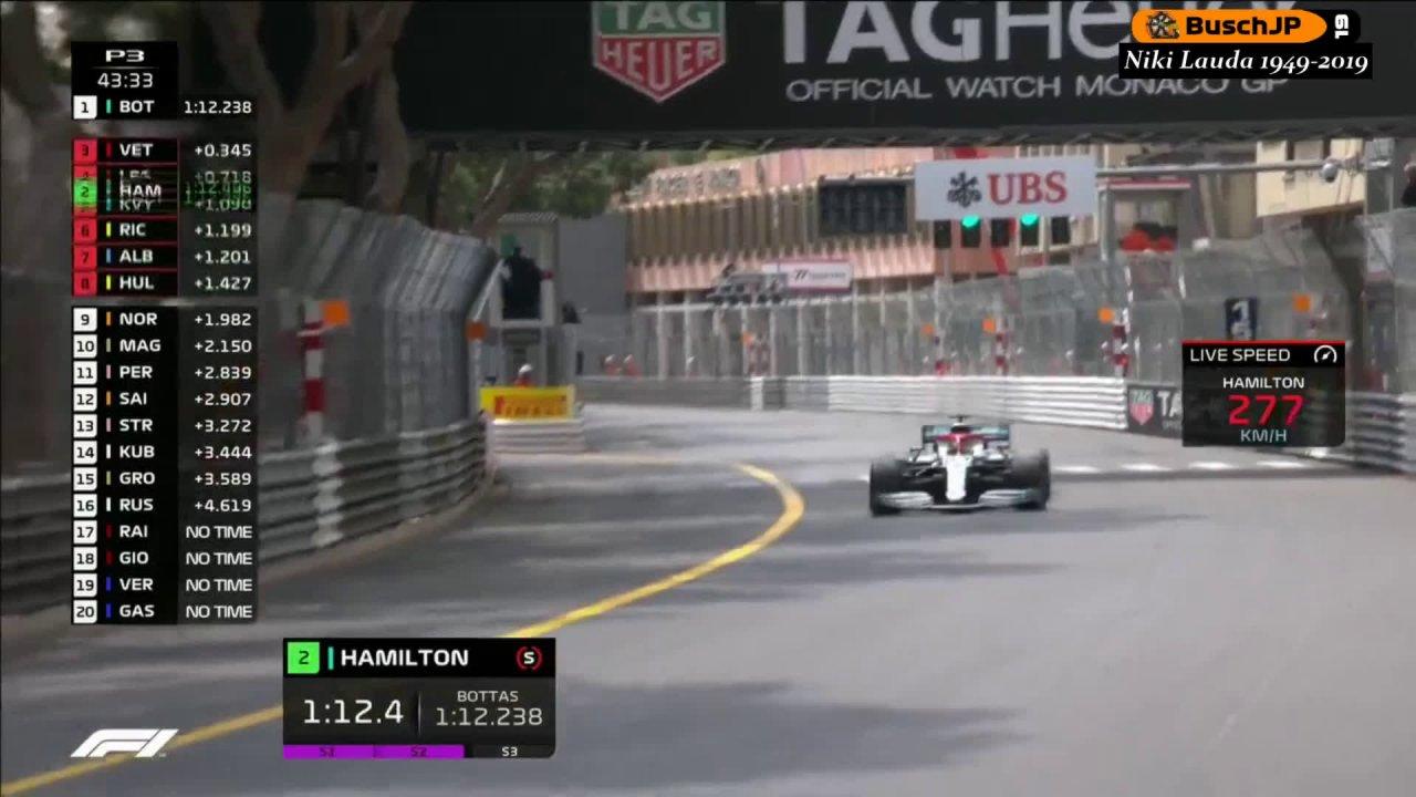 Monaco GP 2019 - kolmas vabatreening, Vetteli seinasõit