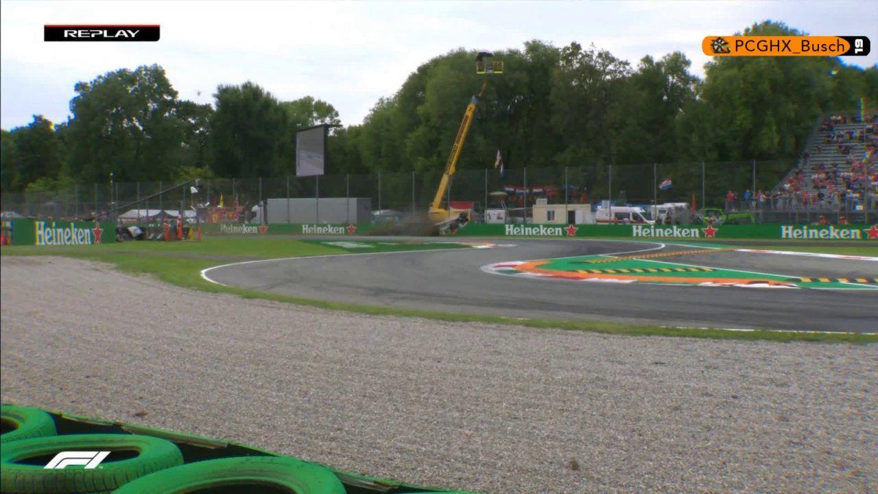 Itaalia GP 2018 - teine vabatreening, Ericssoni avarii teise nurga alt