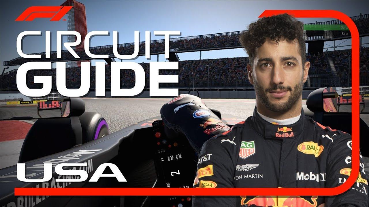 USA GP 2018 - eelvaade, virtuaalring, Ricciardo, FIA