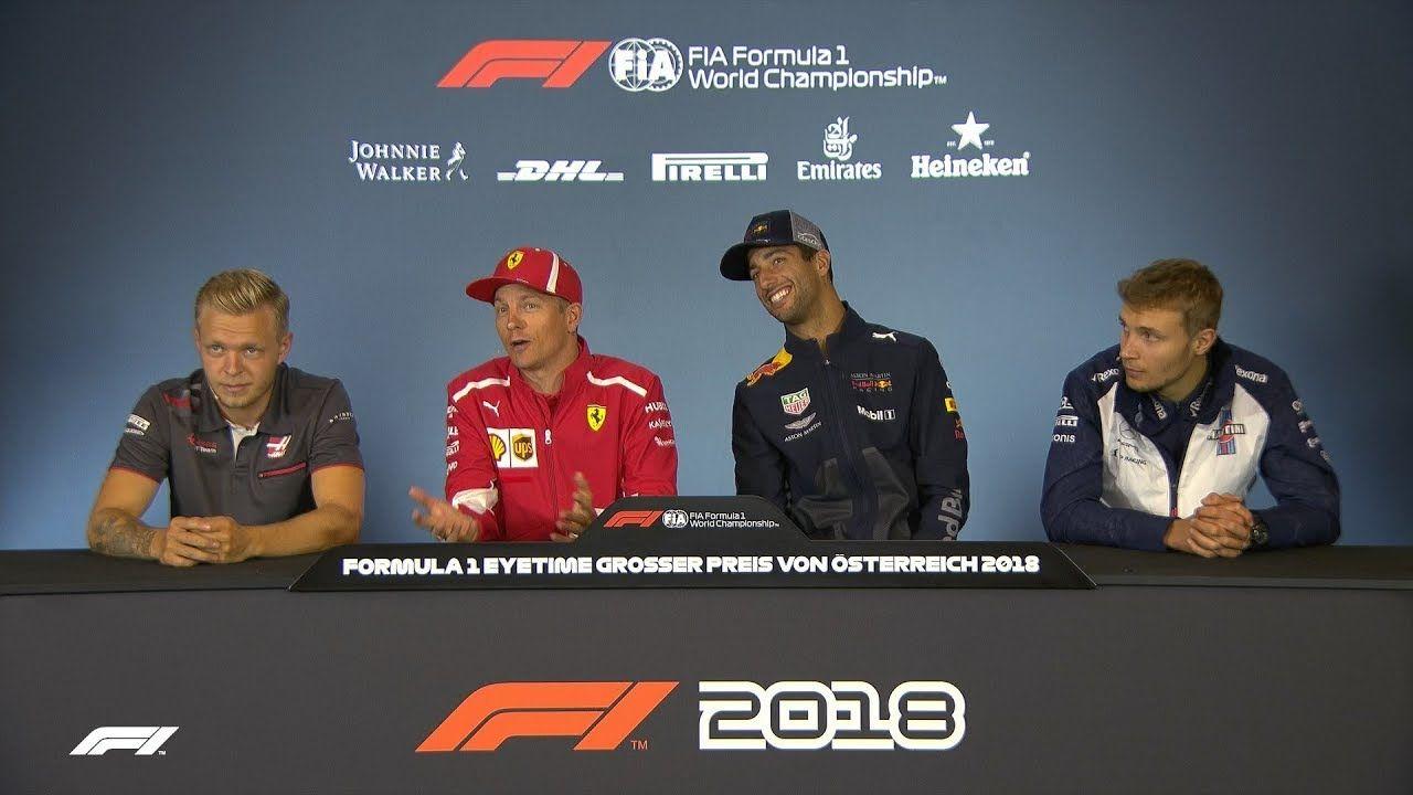 Austria GP 2018 - neljapäevane sõitjate pressikonverents, F1