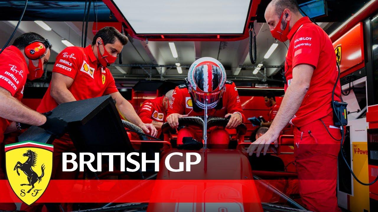 Ferrari eelvaade Suurbritannia võistlusele