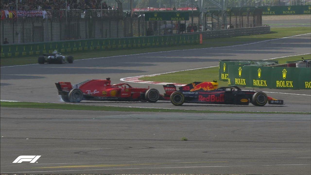 Hiina GP 2018 - sõit, Vetteli ja Verstappeni kokkupõrge