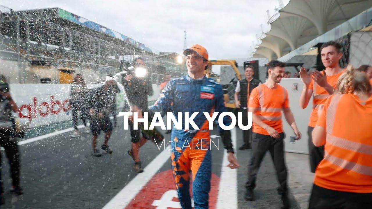 Carlos Sainzi tänusõnad McLareni meeskonnale pärast teadet, et ta lahkub Ferrarissse uuel hooajal