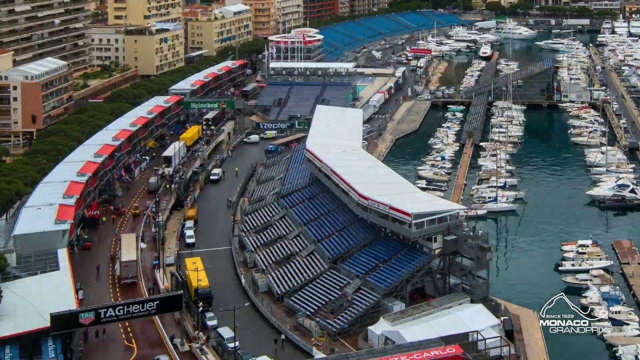 Monaco GP 2018 - raja ettevalmistustööde timelapse