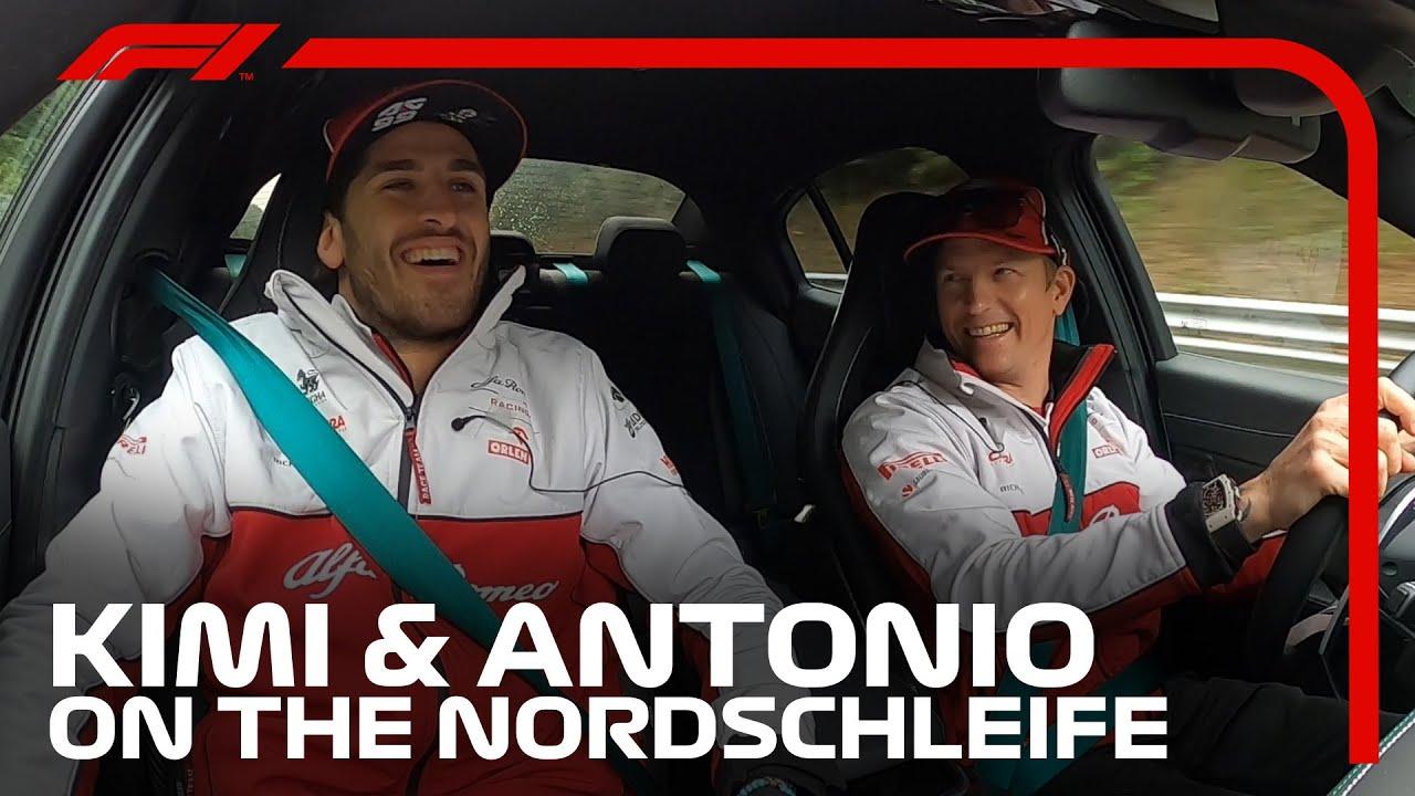 Vaata kuidas Kimi tegi Giovinazzile jänest püksi Nordschleifel