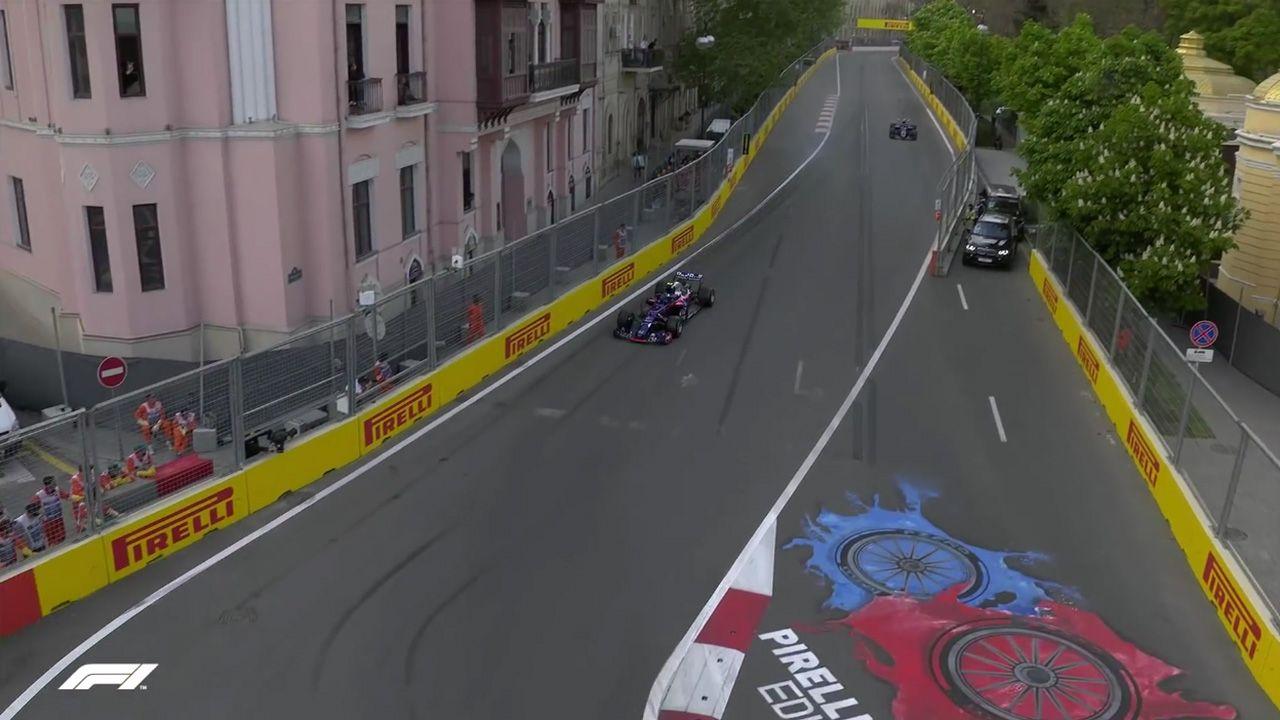Aserbaidžaani GP 2018 - kvalifikatsioon, Gasly ja Hartley intsident 2