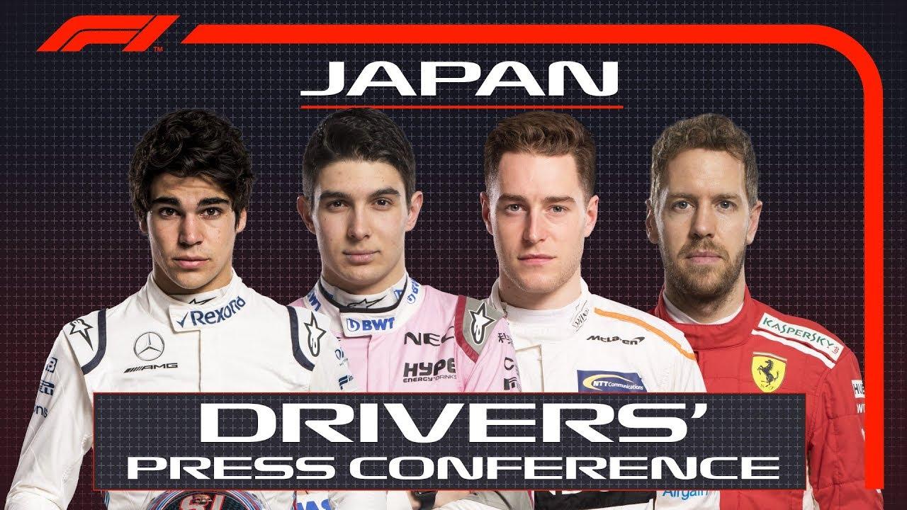 Jaapani GP 2018 - neljapäevane sõitjate pressikonverents, F1
