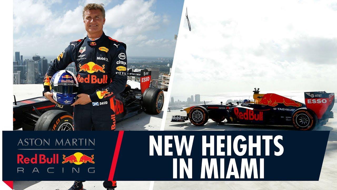 Hooaeg 2018 - Coulthard tegemas donute kõrghoone katuses, Red Bull