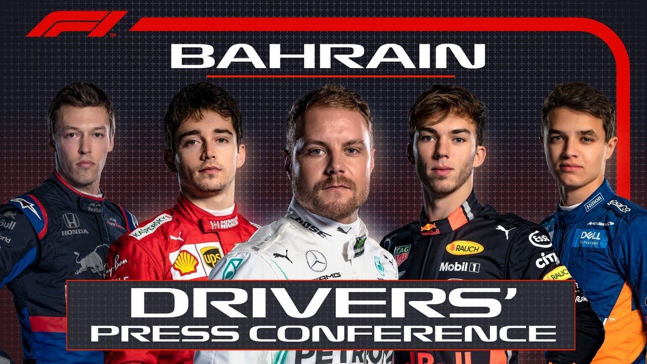 Bahreini GP 2019 - neljapäevane sõitjate pressikonverents, F1