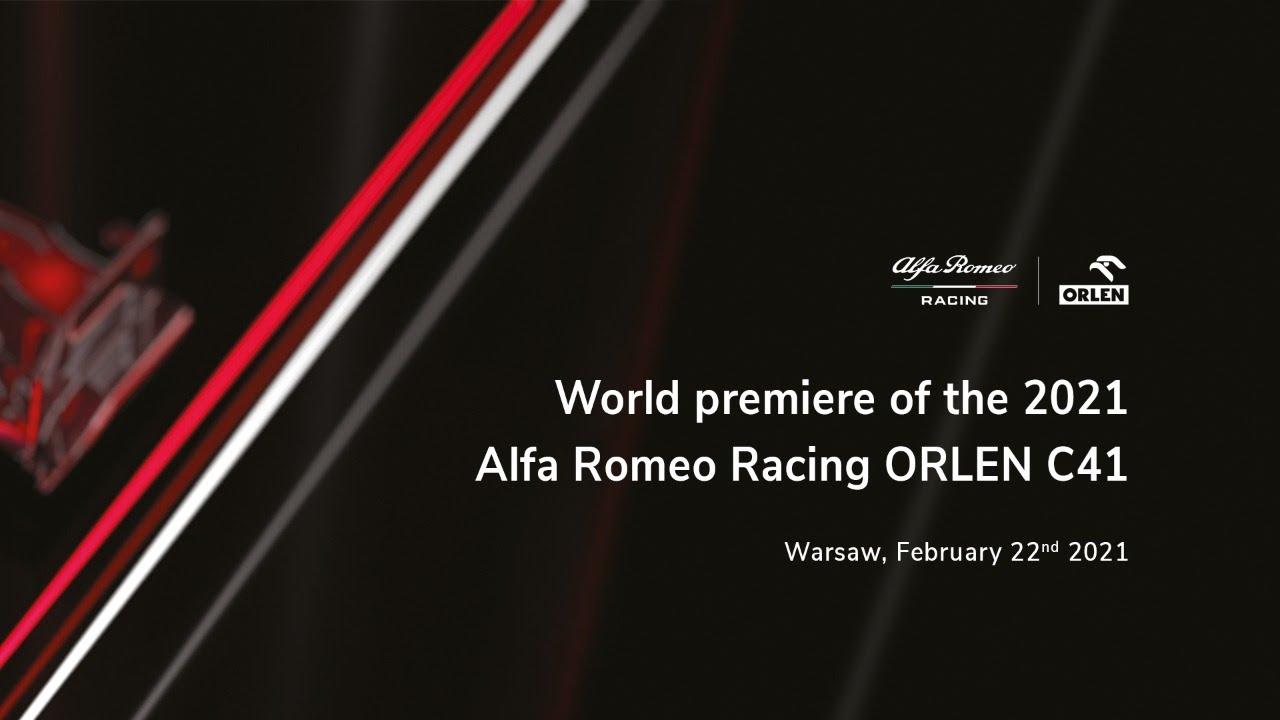 Alfa Romeo 2021. aasta võistlusauto C41 ametlik esitlus