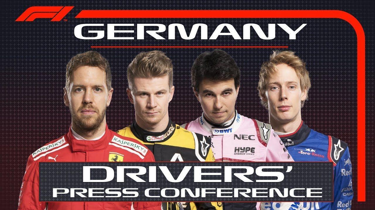 Saksamaa GP 2018 - neljapäevane sõitjate pressikonverents, F1