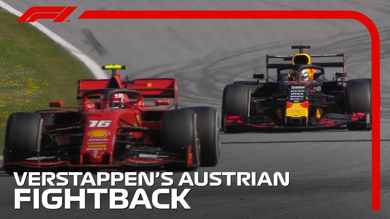 Verstappeni tõus võidule pärast ebaõnnestunud starti