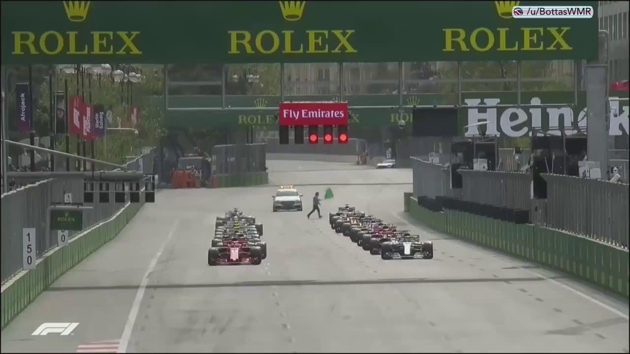 Aserbaidžaani GP 2018 - sõit, esimene ring