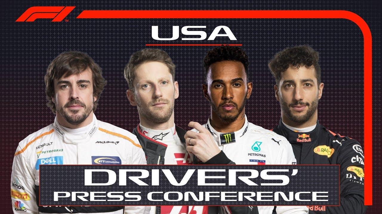 USA GP 2018 - neljapäevane sõitjate pressikonverents, F1