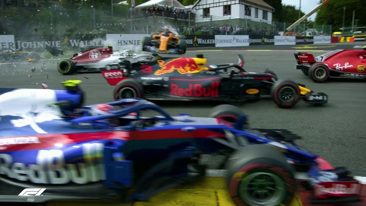 Belgia GP 2018 - sõit, esimene kurv, F1
