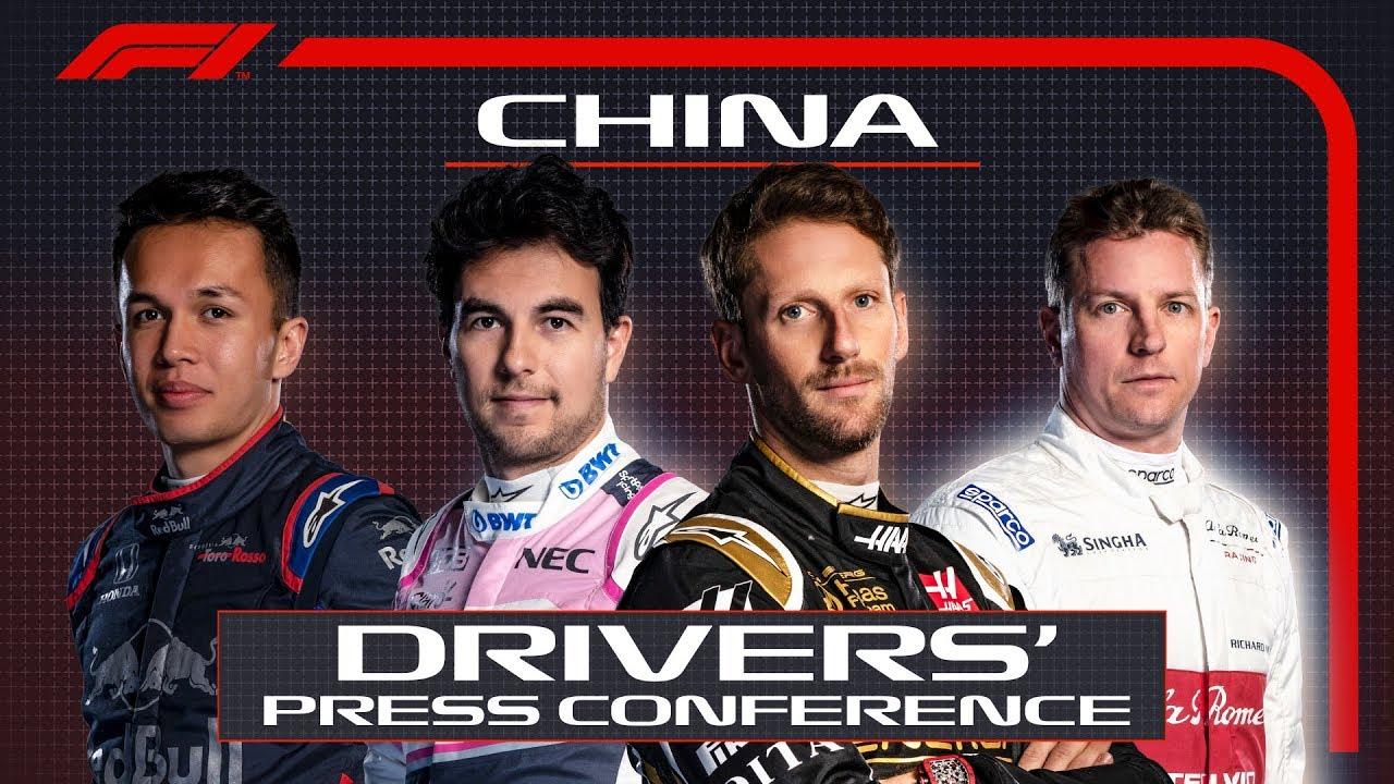 Hiina GP 2019 - neljapäevane sõitjate pressikonverents, F1