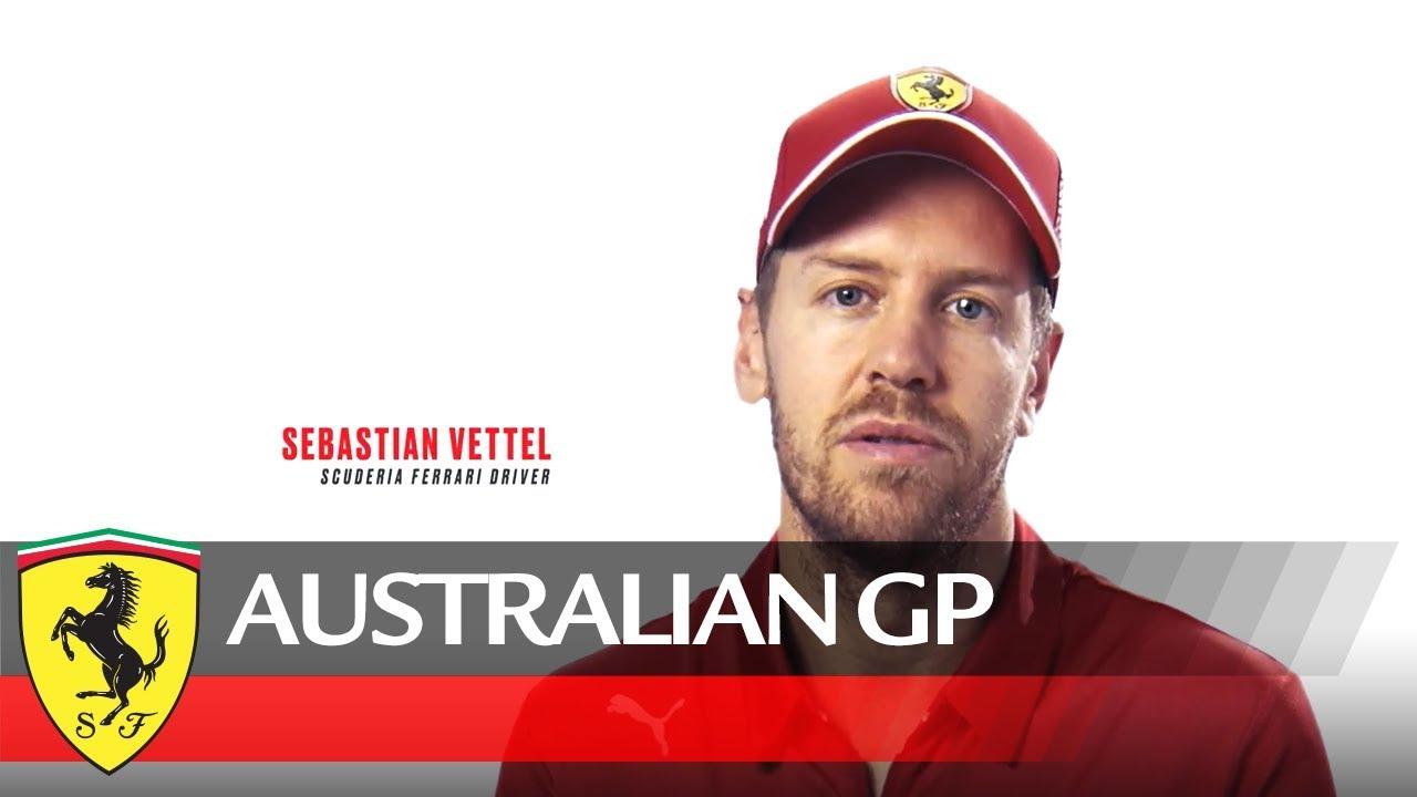Austraalia GP 2019 - eelvaade, Vettel, Ferrari