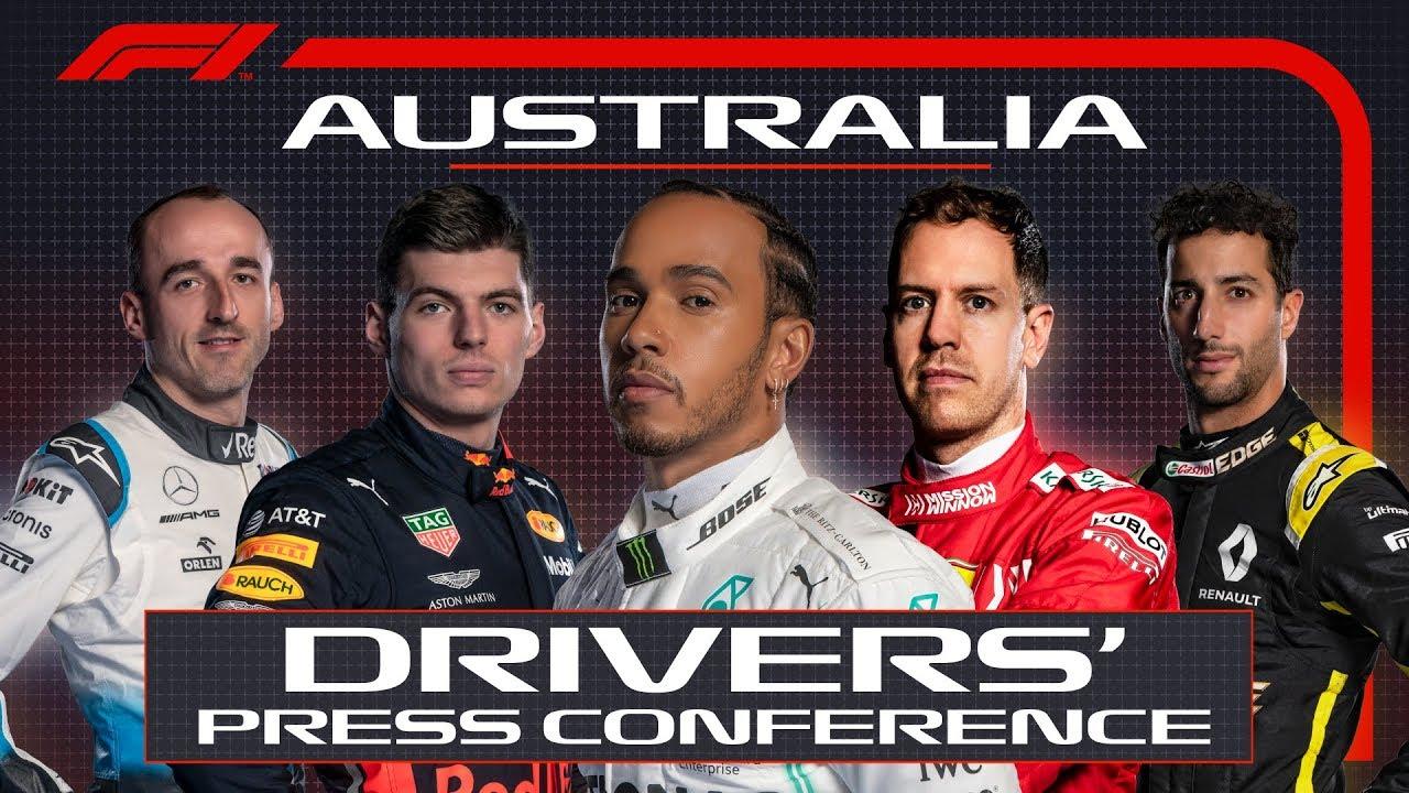 Austraalia GP 2019 - neljapäevane sõitjate pressikonverents, F1