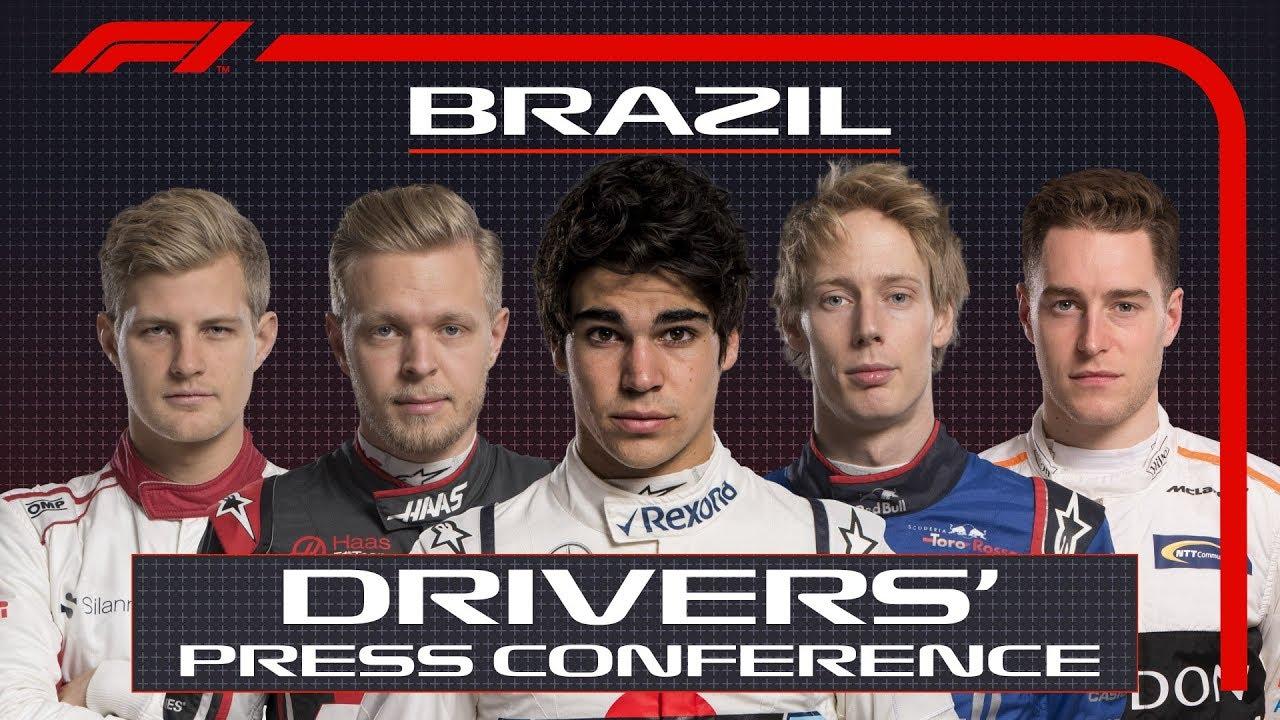 Brasiilia GP 2018 - neljapäevane sõitjate pressikonverents, F1
