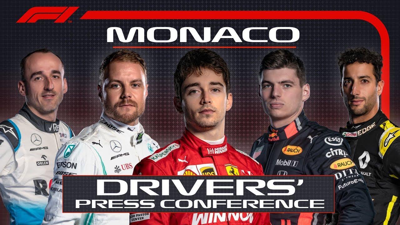 Monaco GP 2019 - kolmapäevane sõitjate pressikonverents, F1