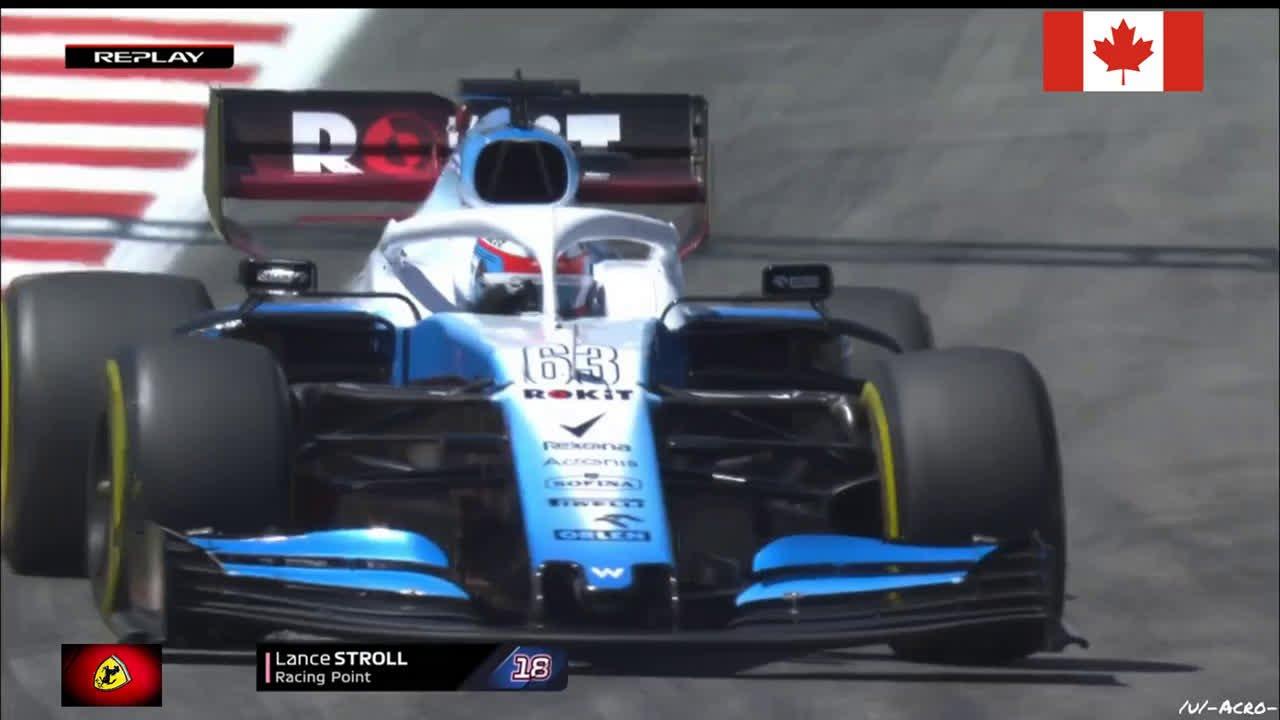 Hispaania GP 2019 - esimene vabatreening, Strolli seinasõit