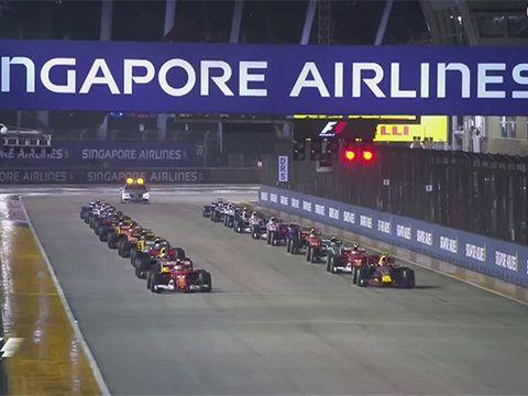 Singapuri GP 2017 - sõit, stardijärgne kokkupõrge
