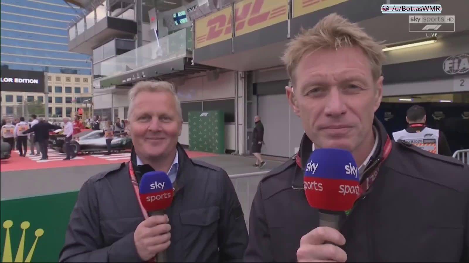 Aserbaidžaani GP 2018 - sõit, Bottase intervjuu pärast katkestamist