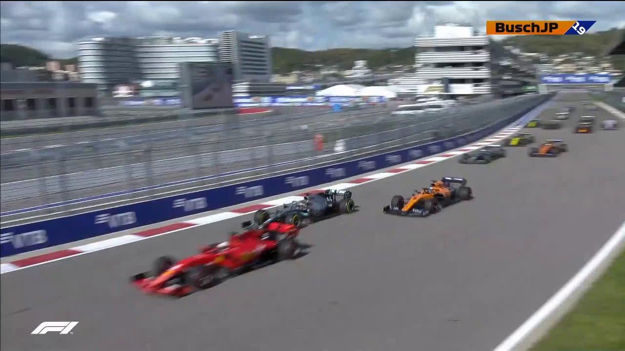Venemaa GP 2019 - sõit, stardijärgne võitlus