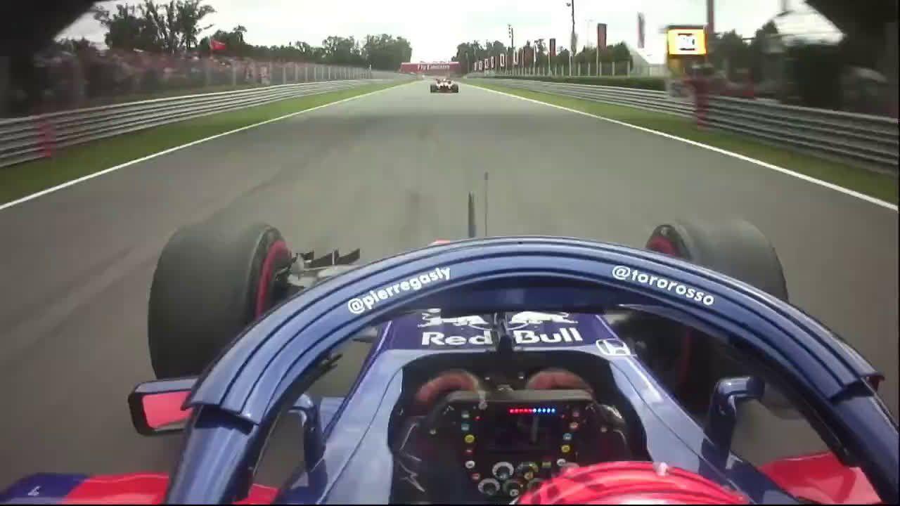 Itaalia GP 2018 - sõit, Gasley and Alonso võitlus