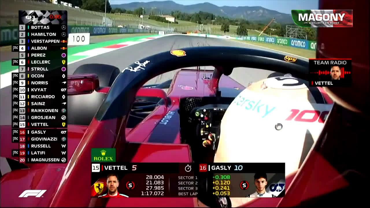 Vettel uurib Toscana GP kvalifikatsiooni Q2 järel kas nad said edasi?