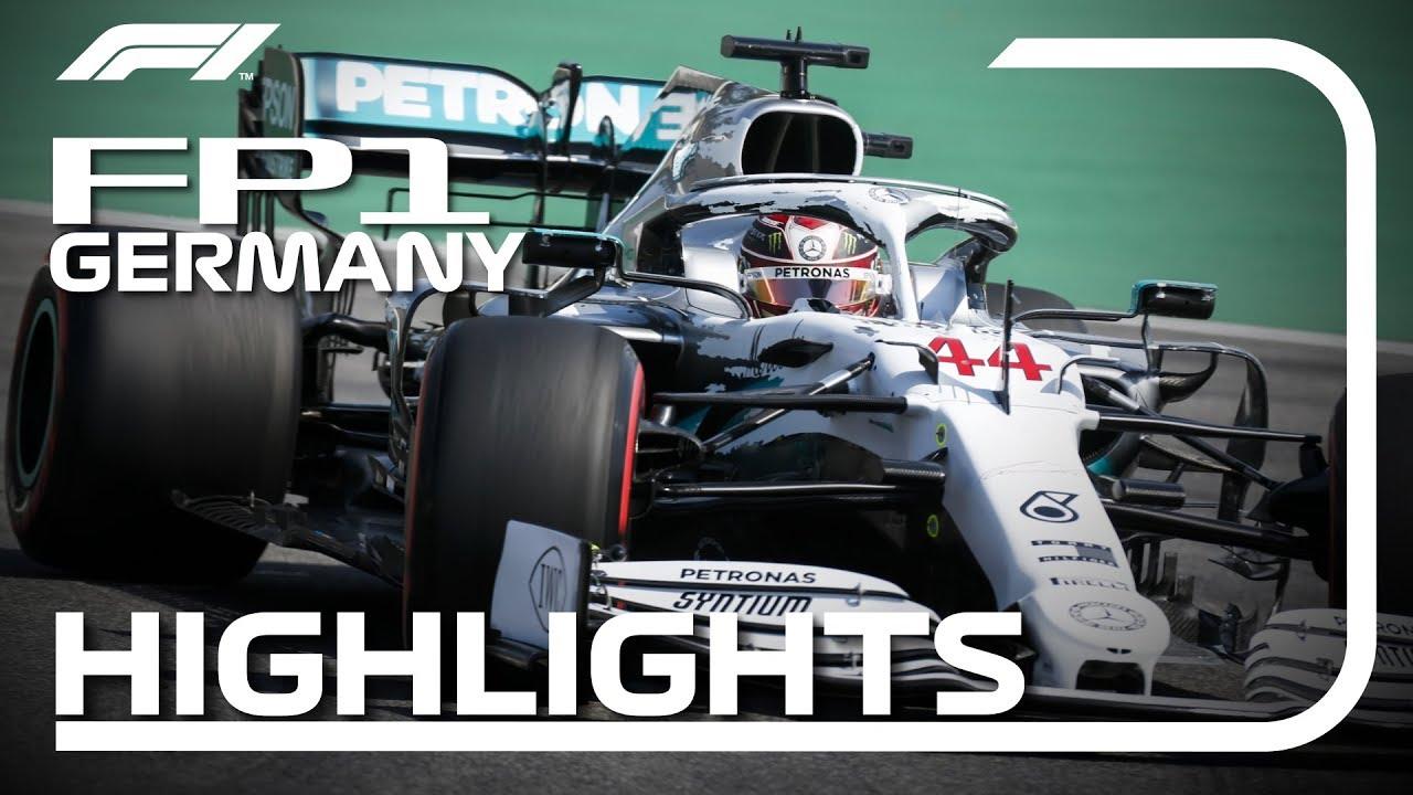 Saksamaa GP 2019 - esimene vabatreening, ülevaade, Formula 1