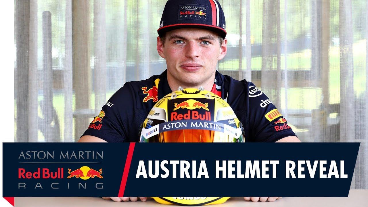 Max Verstappeni eridisainiga kiiver Austria GP-ks