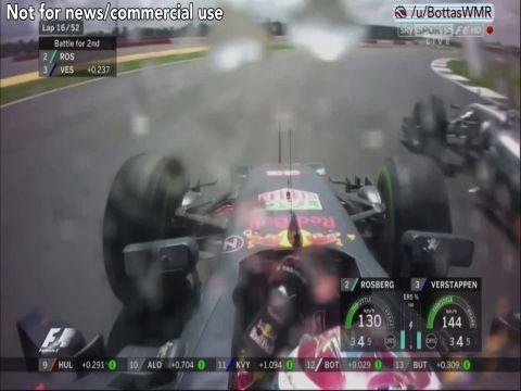 Suurbritannia GP 2016 - Max Verstappen möödub Nico Rosbergist
