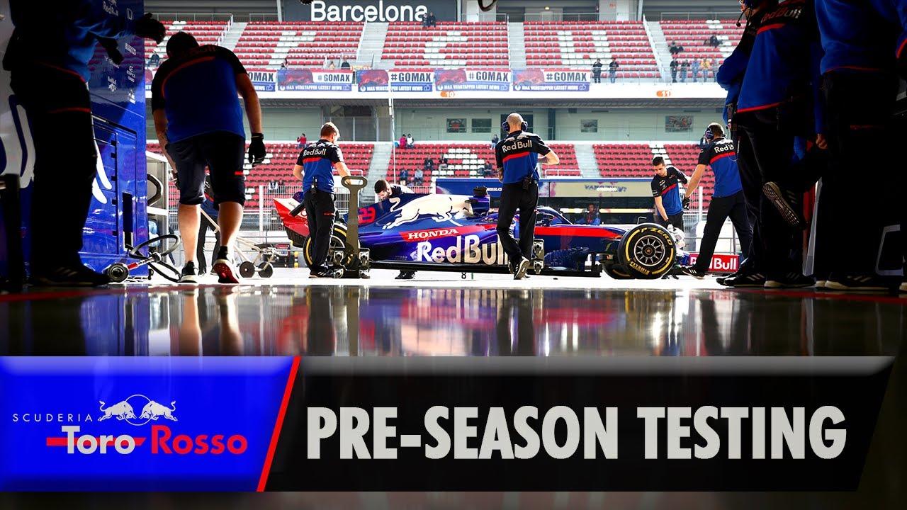 Hooaeg 2019 - Toro Rosso hooajaeelne testimine