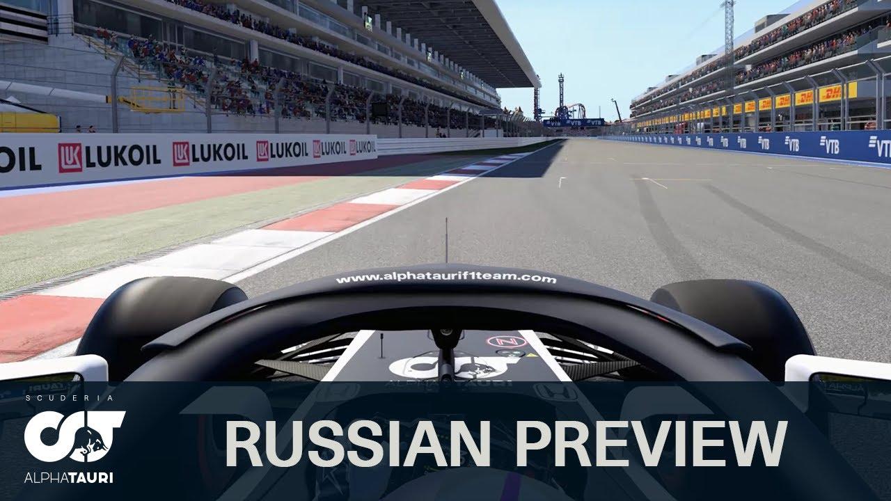 AlphaTauri eelvaade Venemaa võistlusele
