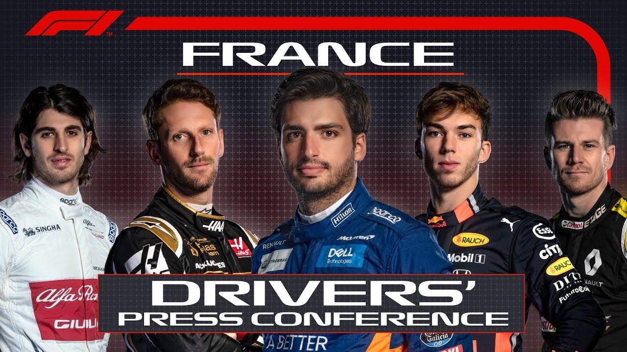 Prantsusmaa GP neljapäevane sõitjate pressikonverents